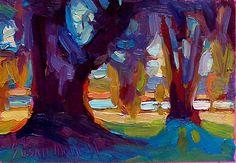 Two Oaks by Susan Mayfield Oil ~  x
