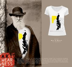 The titel of Artwearness design Mix and match is easely linked to the great Charles Darwin.... The origin of species is all about Mix and match.....