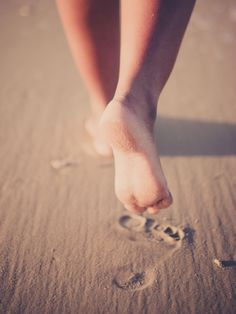 Feet in the sand…
