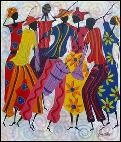 Haitian Carnival Musicians and Dancers