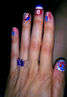 2014 USA World Cup Nails Usa World Cup, Star Hair, Holiday Nails, Design Tutorials, Hair Ties, Rainbows, Hair And Nails, Nail Ideas, Nail Art Designs