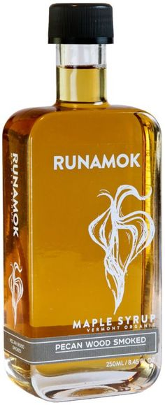 Runamok Pecan Wood Smoked Maple Syrup. Sub in Runamok for simple syrup