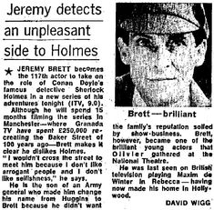 Jeremy Brett - Page 6 Jeremy Brett Sherlock Holmes, Detective Sherlock Holmes, Adventures Of Sherlock Holmes, Jude Law, Stage Play, Test Card, Private Life, British Men, John Watson