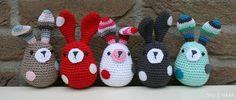 Spiegazioni in italiano per fare coniglietti amigurumi facili.
