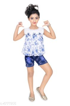 Clothing Sets Modern Classy Girls Top & Bottom Set Top Fabric:  Cotton & Synthetic  Bottom Fabric:   Cotton & Synthetic  Sleeve Length: Sleeveless Top Pattern: Printed Bottom Pattern: Printed Multipack: Single Sizes:  Age Group (2 - 3 Years) - 20 in Age Group (3 - 4 Years) - 22 in Age Group (4 - 5 Years) - 24 in Country of Origin: India Sizes Available: 2-3 Years, 3-4 Years, 4-5 Years, 5-6 Years, 1-2 Years   Catalog Rating: ★4 (6569)  Catalog Name: Modern Classy Girls Top & Bottom Sets Vol 1 CatalogID_694894 C62-SC1147 Code: 623-4771905-