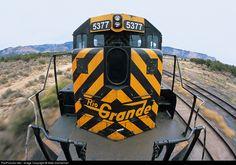 RailPictures.Net Photo: DRGW 5377 Denver & Rio Grande Western Railroad EMD SD40T-2 at East Carbon, Utah by Mike Danneman