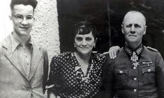 The Rommel family during the second world war: Manfred, left, his mother, Lucie, and field marshal father, Erwin. Photograph: Popperfoto/Getty Images