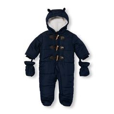Baby Boys Long Sleeve Toggle Button Hooded Snowsuit Set | The Childrens Place