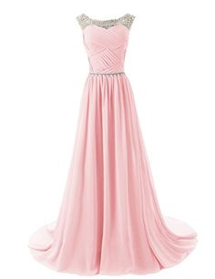 Dressystar Beaded Straps Bridesmaid Prom Dresses with Sparkling Embellished Waist  Buy Now: $58.96 - $124.49	(On sale from $279.99)