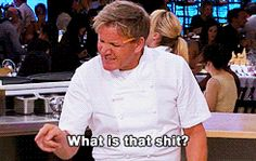 Updates on your favourite reality television shows including Kitchen Nightmares, Hotel Hell, 24 Hours to Hell and Back and Happy Birthday Chef, Gordon Ramsay Funny, Chef Gordon Ramsey, Cooking Humor, Memes Funny Faces, Funny Pics, Hilarious, Hells Kitchen, Mood Pics