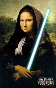 Mona Lisa as Obi Wan Kenobi, Jedi Knight, Pop Art, Star Wars art (Dunway…