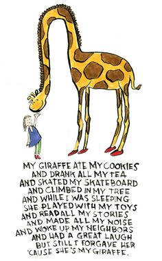 Giraffes are cool. :)