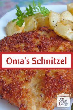German Pork Schnitzel including a Jägerschnitzel Sauce. Check out http://www.quick-german-recipes.com/german-schnitzel-recipe.html