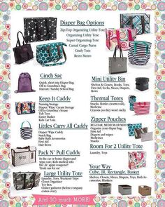 Are you looking for diaper bag options?  31 has a lot of great ones! #Org31 http://organize365.com/31-bag/