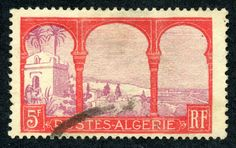 "Algeria  1926 Scott 65 5fr red & violet ""Marabout of Sidi Yacoub"""