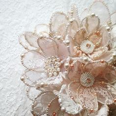 """58 Likes, 1 Comments - fashion embroidery (@matreshki.rf) on Instagram: """"#embroidery #sequin #sequins #crystal #crystals #handmade #fashion #fashionembroidery…"""""""