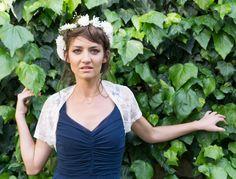 Gray lace bolero summer bridesmaid shawl shrug by Sheeebz on Etsy