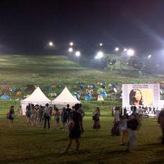 오늘 밤, 마음만은 저기에... @ Camp Town, Jisan Valley Rock Festival, Icheon, Korea (2012.07.27)
