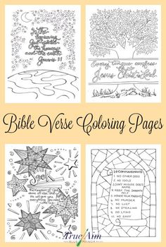 Getting older children to memorize scripture can be as easy as having them color! Check out these 6 awesome Bible verse coloring pages! Bible Verse Coloring Page, Colouring Pages, Adult Coloring Pages, Coloring Books, Coloring Sheets, Bible Crafts, Bible Art, Bible Book, Bibel Journal