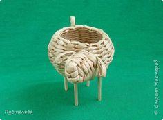 Мастер-класс Поделка изделие Плетение Овечка Бумага Трубочки бумажные фото 2