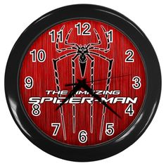 "The Amazing Spider-Man 2012 [10"" Wall Clock *Black/Silver Frame]"