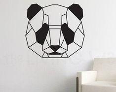 Geometric Bear Wall Decal, Geometric Animals Home Decor, Bear Monochrome Decor Living Room, Geometric Art, Australian Made Geometric Bear, Geometric Drawing, Geometric Wall, Wall Stickers Geometric, Wall Murals, Wall Art, Wall Decal, Ideias Diy, Animal Decor