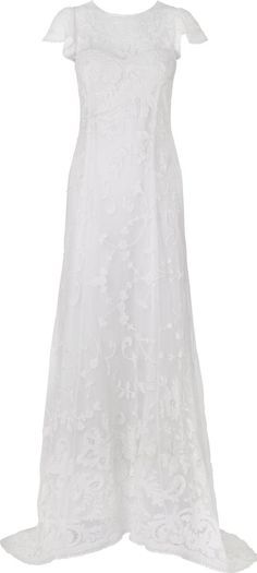 Phase Eight Emma Wedding Dress. The applique and broderie anglais combined with cap sleeves and small train make this a pretty yet demure wedding dress. On the reverse button detailing and a key hole back add the final flourish. #Phaseeight #PhaseEight #Women #fashion #obsessory #fashion #lifestyle #style #myobsession #wedding #weddinggowns #weddingideas