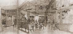 Interior of the Veranda Restaurant in Adventureland by Dorothea Redmond