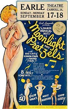 Moonlight and Pretzels. Leo Carrillo, Mary Brian, Roger Pryor, Herbert Rawlinson. Directed by Karl Freund. Universal. 1933
