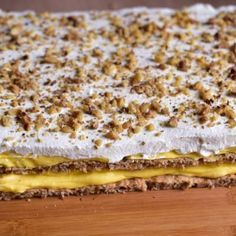 Prajitura Ana - Lucky Cake Romanian Desserts, Romanian Food, Sweets Recipes, Cake Recipes, Cooking Recipes, Lucky Cake, Focaccia Bread Recipe, Kolaci I Torte, Croatian Recipes