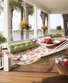 This is what I call relaxing! Need to flip the cushions around for a view of the water... (1) From: Pottery Barn, please visit