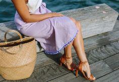 A Pair & A Spare   DIY Wrap Skirt (with pom pom hem!)