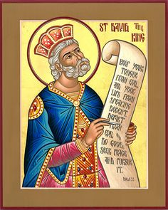 Icon of St. David the King by the Hand of Deacon Matthew Garrett
