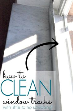 How to Clean Window Tracks with little to NO SCRUBBING! with vinegar, baking soda, and hot water
