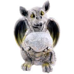 Drachen Gartenfigur Ei haltend FIGUR Drachenbaby 26cm DRACHE Dekoration DEKO Neu