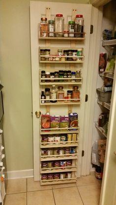 Wooden Pantry Door Spice Rack.