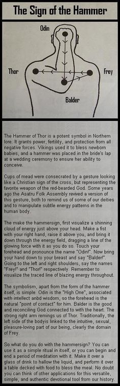 Hammer Sign, same as our catholic cross gesture, saying father son Holy Spirit. :) Hammer Sign, same as our catholic cross gesture, saying father son Holy Spirit. Norse Pagan, Norse Mythology, Norse Runes, Viking Quotes, Viking Sayings, Father Son Holy Spirit, Symbole Viking, Viking Culture, Viking Life