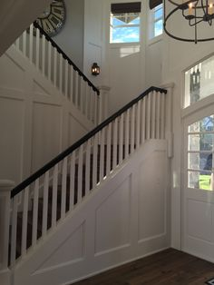 Mon Coeur Foyer stairway with floor to ceiling paneling at the NW Natural Street of Dreams 2016!