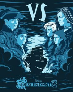 "Descendants 2 en Instagram: ""Choose a crew: the pirates or the VKs? #Descendants2"""