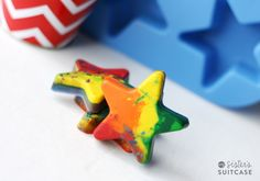 Kids Craft : Make Your Own Shaped Crayons | My Sister's Suitcase – Packed with Creativity