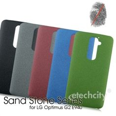 Sand Stone Series Anti-Fingerprint #PC Case for #LG Optimus G2 E940 [PCAF-LGG2E94] - $15.00