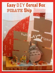 Easy DIY Cereal Box PIRATE Ship - Travel Approved! By Kids Play Space