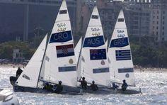 Men´s 470 class sailing olympics 2016. I herrarnas 470 klass vann Kroatien guldet, silver till Australien och brons Grekland.