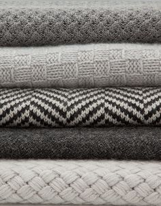 The textures and patterns in these blankets look so nice! Perfect for a cozy winter!