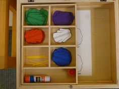 Interior of one of the pasting boxes (for Liturgical Colors: Chasubles) from The Catechist's Husband