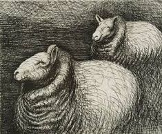 Image result for henry moore sheep drawings