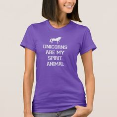 Unicorns are my Spirit Animal T-Shirt - tap to personalize and get yours
