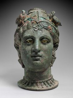 Bronze perfume jar (balsamarium) in the form of a female head (Aphrodite or Turan? Museum of Fine Arts, Boston Ancient Rome, Ancient History, Art History, Bronze Sculpture, Sculpture Art, Hellenistic Period, Art Antique, Goddess Of Love, Egyptian Goddess
