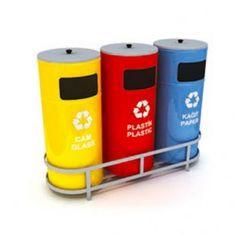 Design-Wertstoffsammler / Mülltrennsystem für Abfall- und Mülltrennung WXK 608D aus verzinktem Stahlblech (3 x 32Liter)   RecyclingUp! - Österreichs, Deutschlands und der Schweiz größte Auswahl an Recycling Tonnen, Wertstoffsammler, Abfalltrennsysteme, Mülltrennsysteme für Kunststoff-Recycling, Metall-Recycling, PET-Recycling, Papier-Recycling, Glas-Recycling oder Wertstoff-Recycling