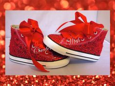 Youth red ruby converse/ wizard of oz shoes / customised converse / bling converse / red customised converse by CindersWish on Etsy https://www.etsy.com/listing/198604337/youth-red-ruby-converse-wizard-of-oz